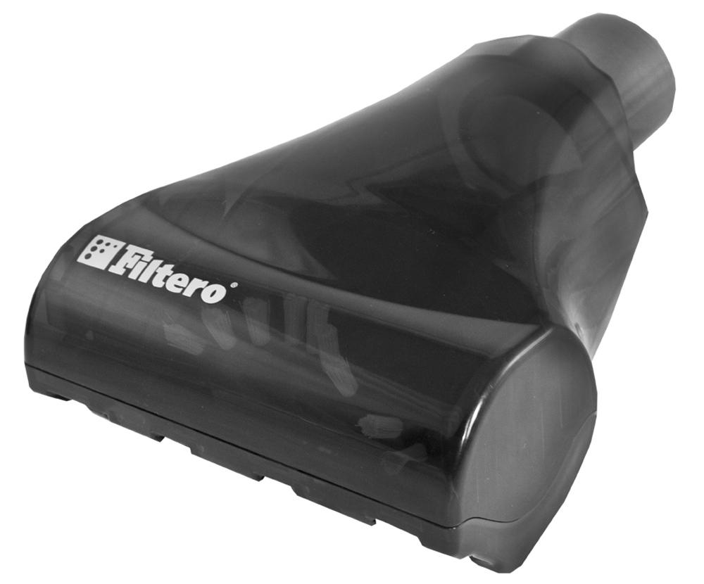 Filtero FTN 22 мини турбо-щетка для пылесосов универсальнаяFTN 22Мини турбо-щетка Filtero FTN 22 для уборки любых ковровых покрытий и мягкой мебели. Компактная рабочая зона щетки позволяет достичь максимального эффекта как при уборке ковром, так и при чистке мягкой мебели. Разборный корпус позволяет легко очистить вращающийся вал.Оснащена переходником с универсальным зажимом, который обеспечивает возможность использования насадки с большинством пылесосов известных марок, с диаметром удлинительной трубки 30-37 мм. Эффективная конструкция турбины позволяет использовать ее с любыми, даже маломощными пылесосами.