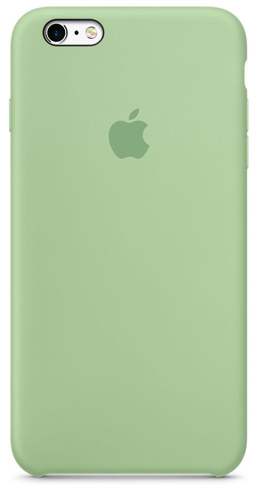 Apple Silicone Case чехол для iPhone 6 Plus/6s Plus, MintMM692ZM/AApple Silicone Case создали те же дизайнеры Apple, которые тщательно продумывали каждую деталь iPhone. Силиконовые чехлы плотно прилегают к кнопкам управления громкостью и режима сна. Они точно повторяют контуры iPhone 6s Plus и iPhone 6 Plus, поэтому телефон остаётся тонким. Мягкая внутренняя поверхность чехла, выполненная из микроволокна, защитит корпус вашего iPhone. А внешняя силиконовая поверхность очень приятна на ощупь.