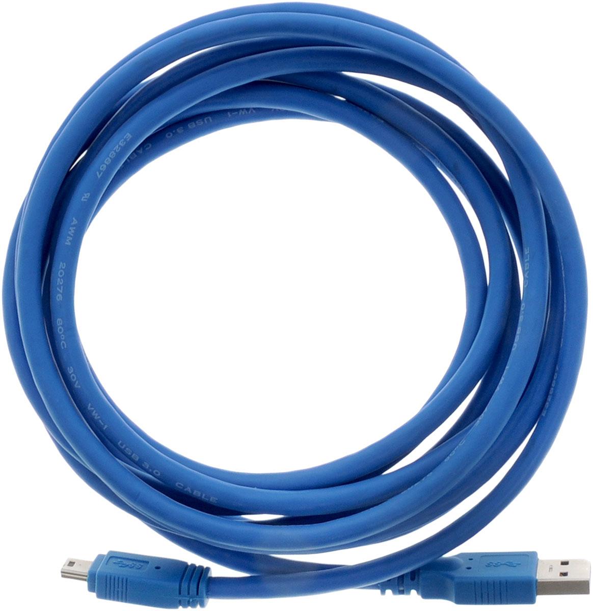 Greenconnect Premium GC-U3A2109, Blue кабель miniUSB 3.0-USB 3.0 (3 м)GC-U3A2109-3mКабель Greenconnect Premium GC-U3A2109 позволяет подключать мобильные устройства, которые имеют разъем miniUSB к USB разъему компьютера. Подходит для повседневных задач, таких как синхронизация данных и передача файлов. Кабель имеет двойное экранирование (сочетание фольгированной и общей оплетки), что позволяет защитить сигнал при передаче от влияния внешних полей, способных создать помехи.Скорость передачи данных: до 5 ГбитОбратная совместимость с USB 2.0/1.1Тип оболочки: PVC (ПВХ)