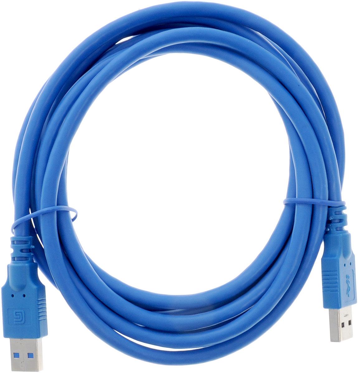 Greenconnect Premium GC-U3A01, Blue кабель USB 3 мGC-U3A01-3mКабель Greenconnect Premium GC-U3A01 используется для соединения ПК или ноутбука с периферийными устройствами: HD-DVD, принтер, внешний жесткий диск, Blu-ray и другими. Кабель имеет двойное экранирование (сочетание фольгированной и общей оплетки), что позволяет защитить сигнал при передаче от влияния внешних полей, способных создать помехи. Скорость передачи данных: до 5 Гбит Тип оболочки: PVC (ПВХ)Совместимость: USB 3.0/2.0/1.1