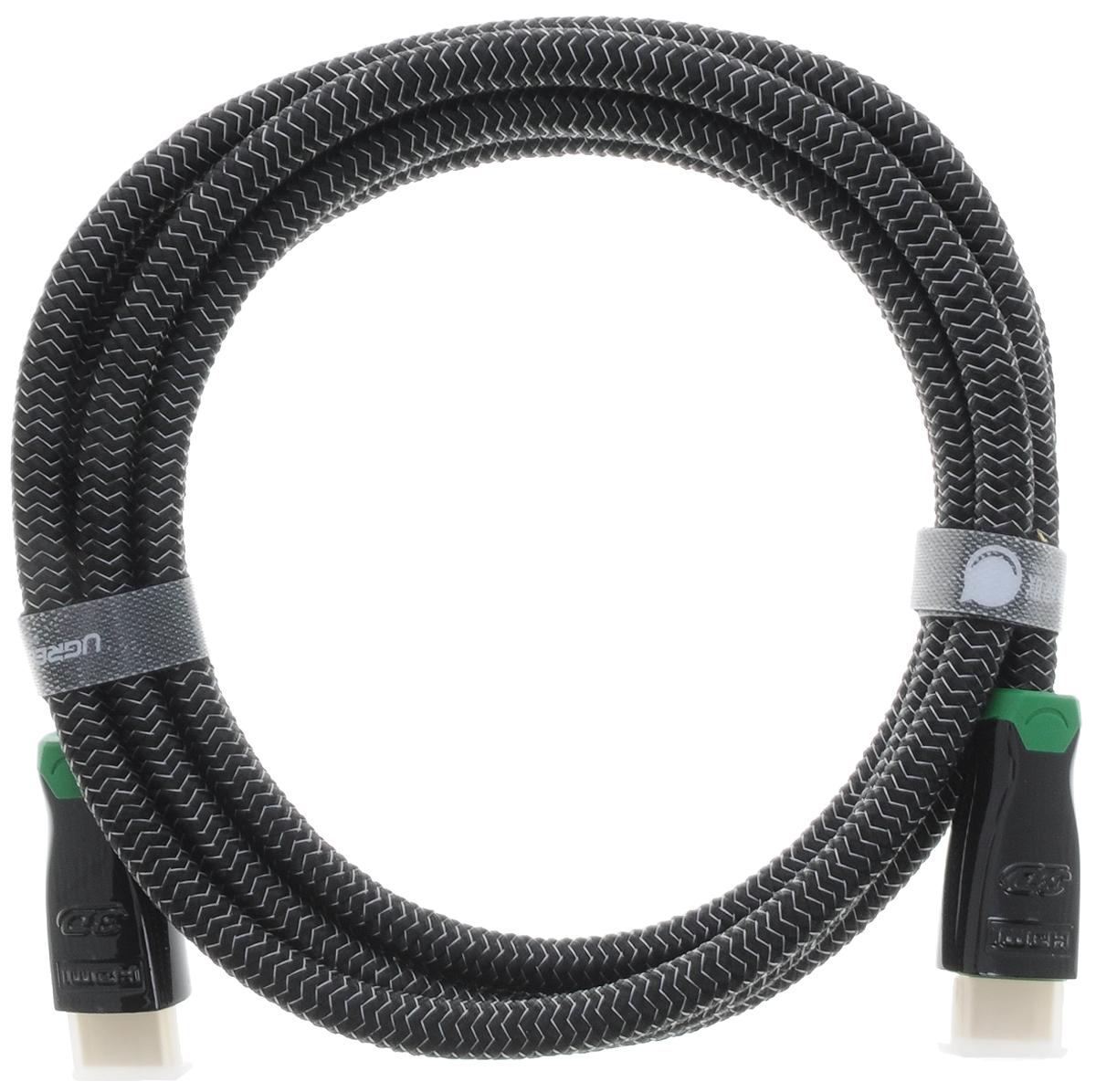 Ugreen UG-10292, Black Green кабель HDMI 2 мUG-10292Кабель HDMI Ugreen UG-10292 предназначается для передачи цифровых видеоданных с высоким разрешением и многоканальных цифровых аудиосигналов с дальнейшей защитой от копирования. Обеспечение соединения при помощи разъема HDMI нескольким устройствам делает этот интерфейс незаменимым.Скорость передачи данных до 10,2 Гбит/сТолщина кабеля: 8 ммЭкранирование
