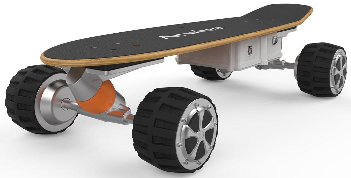 Airwheel M3, Black двухколесный гироцикл (батарея Samsung 162,8 Вт/ч)AIRWHEEL M3-162.8Электрический скейтборд с пультом дистанционного управления.Амортизирующие колёсаБесщёточный двигательДвойная защита батареиДистанционное управлениеBluetoothМатериал корпуса: Металл; Пластик