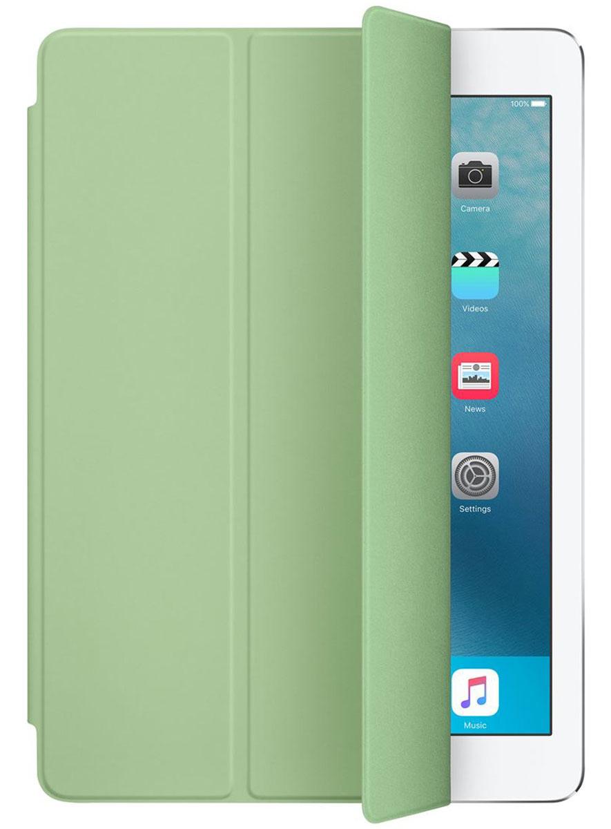 Apple Smart Cover чехол для iPad Pro 9.7, MintMMG62ZM/AОбложка Apple Smart Cover для iPad Pro 9.7 создана из цельного листа полиуретана, чтобы защищать переднюю поверхность вашего устройства. Smart Cover автоматически выводит iPad из режима сна при открытии и переводит в режим сна при закрытии. Она складывается различными способами, что позволяет использовать её как подставку для чтения, просмотра фильмов, набора текста или звонков FaceTime. Обложка снимается и надевается очень легко - в любой момент.