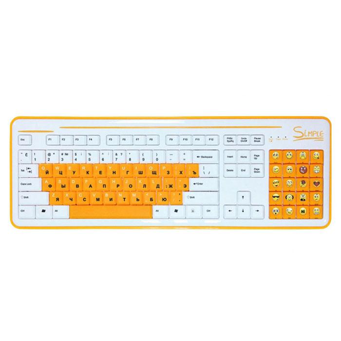 CBR Simple S8, White клавиатураS8 WhiteКлавиатура CBR Simple S8 станет отличным решением для активных пользователей интернет-мессенджеров и социальных сетей. S8 облегчает общение благодаря тому, что вместо цифрового поля справа, на ней располагается блок специальных клавиш. Каждая клавиша блока представляет собой тот или иной смайлик, что освобождает от набора на основной клавиатуре сложных комбинаций или выбора нужного эмотикона из списка используемой программы. Пользователь такого гаджета сможет одним нажатием кнопки выразить необходимую эмоцию.С помощью этой клавиатуры у пользователя будет в распоряжении 20 различных смайлов. Новое устройство ввода совместимо с различными операционными системами, и может поддерживать многие приложения, такие как qip, skype, icq, одноклассники и большое количество других. При необходимости смайлы легко отключаются одним нажатием кнопки, и блок смайлов работает стандартном варианте Num Lock. Цифры при этом нанесены на боковую грань клавиш. Клавиатура дополнена функцией быстрого вызова калькулятора.