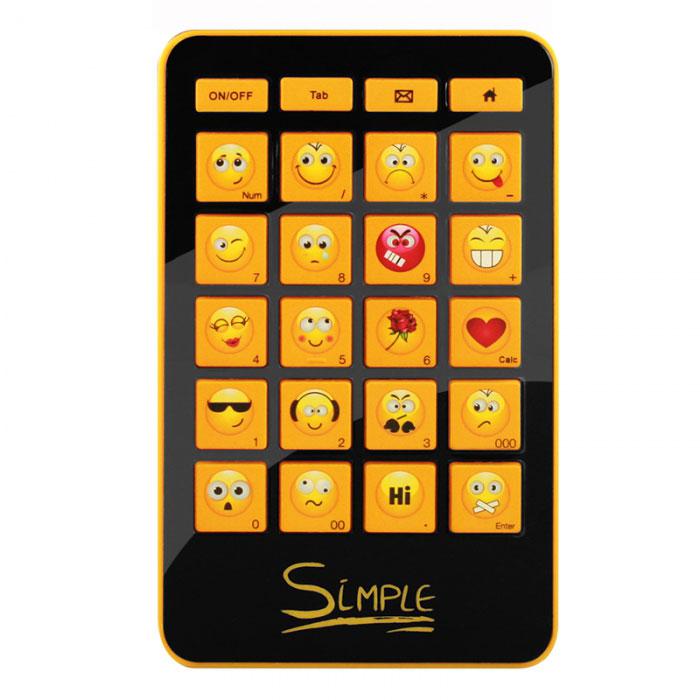 CBR Simple S12 клавиатураS12CBR Simple S12 станет отличным решением для активных пользователей интернет-мессенджеров и социальных сетей. Концепт клавиатуры состоит в возможности легко и быстро выражать свои эмоции. Гаджет подключается к компьютеручерез USB-порт. В блоке 20 смайлов, выражающих самые разнообразные эмоции. Это устройство облегчает общение благодаря тому, что каждая его кнопка представляет собой тот или иной смайлик, так что вам не нужно будет набирать на основной клавиатуре сложные комбинации или выбирать нужный эмотикон из списка используемой программы.С помощью этой мини- клавиатуры, у пользователя будет иметься в распоряжении 20 различных смайлов. Главное - новый аксессуар имеет совместимость с различными операционными системами, и может поддерживать различные приложения, такие как qip, skype, icq и множество других.