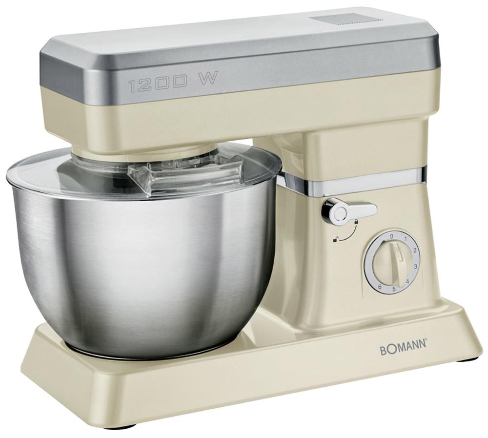 Bomann KM 398 CB, Cream миксер стационарныйKM 398 CB cremeСтационарный миксер Bomann KM 398 CB станет прекрасным помощником для любой хозяйки С ним вы сможете готовить невероятно вкусные и аппетитные блюда, при этом сократив время их приготовление. Основным назначением прибора является изготовление различных видов теста и кремов. Миксер качественно и быстро перемешивает различные ингредиенты, что дает возможность избежать комочков.Bomann KM 398 CB снабжен чашей из нержавеющей стали и механической системой управления. 6 скоростей замешивания + импульсный режим обеспечат наилучший результат.Объем чаши 6.3 ( макс. 3-3,5 кг теста)Литой алюминиевый крюк для тестаЛитая насадка для перемешиванияВенчик из нержавеющей сталиЗащитная крышка с отверстием для добавления продуктовПоворотный рукав на 35°Быстрозажимной патронЛегко разбирается для мытья и чисткиНескользящие ножки на присоскахПитание: 220-240 В, 50 Гц, 1200 Вт