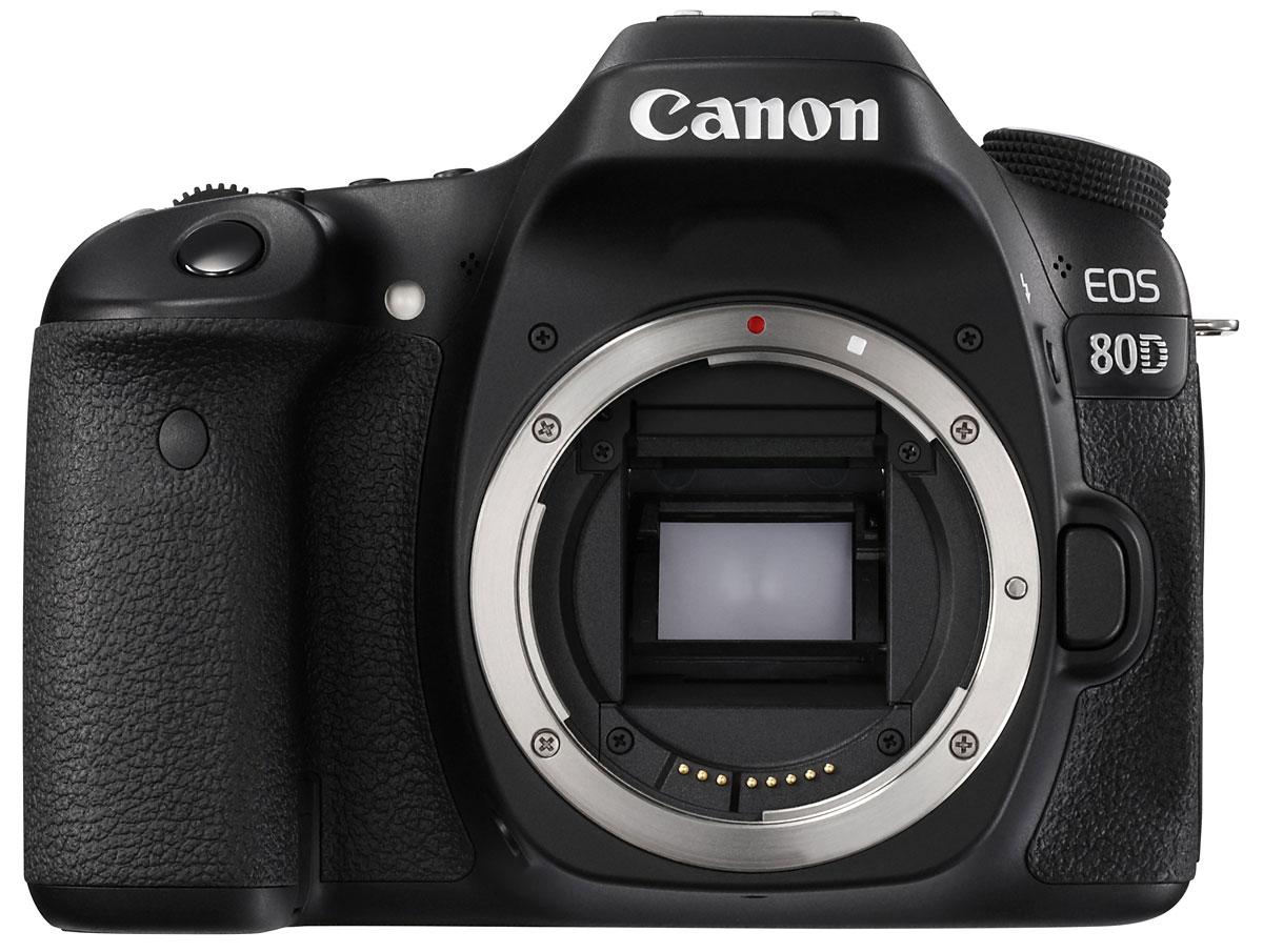 Canon EOS 80D Body цифровая зеркальная фотокамераEOS 80DCanon EOS 80D - мощная , универсальная и быстрая камера, которая позволит вам раскрыть свой творческий потенциал. Она отлично подходит для съемки спортивных событий, портретов, пейзажей, улиц, путешествий и съемки при слабом освещении, а также для качественной видеосъемки, благодаря инновационным технологиям, которые позволяют получать превосходные результаты в любой ситуации. Моментально реагируйте на изменения и с легкостью снимайте спортивные соревнования или дикую природу благодаря высокопроизводительной системе автофокусировки, максимальной скорости серийной съемки 7 кадров/с и настраиваемым элементам управления.Не упустите ни одного мимолетного движения спортивной игры и создавайте четкие фотографии даже при заливающем свете благодаря быстрореагирующей и точной системе автофокусировки, которая работает в сложных условиях освещения до -3 EV. 45-точечная система автофокусировки крестового типа позволяет выбрать точку или область фокусировки в соответствии с композицией и обеспечивает высокую точность и расширенные возможности управления фокусом по широкой зоне, гарантируя превосходный результат независимо от места постановки объекта в кадре.Ваши снимки всегда будут четкими при использовании системы автофокусировки с различными комбинациями объективов и телеконвертеров благодаря 27 точкам автофокусировки, поддерживающим фокусировку при значении диафрагмы f/8.Наслаждайтесь гибкостью управления на камерах EOS среднего формата благодаря настраиваемым кнопкам, верхнему ЖК-дисплею и видоискателю, которые позволяют вам легко и быстро регулировать настройки камеры.Создавайте фотографии отличного качества под стать вашим творческим способностям. Камера обеспечивает превосходные изображения в различных условиях освещения, передающие все детали, цвета и настроение и готовые для редактирования и демонстрации, благодаря 24,2-мегапиксельному датчику изображений CMOS APS-C и процессору DIGIC 6.Наслаждайтесь точной и стаби