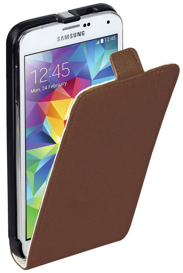 Promate Filion-S5 чехол для Samsung Galaxy S5, Brown00007919Promate Filion-S5 - защитный чехолс вертикальной флип-крышкой, обеспечивающий оптимальную сохранность телефона от царапин и потертостей. Когда смартфон не используется, магнитный замок на кожаном язычке надежно фиксирует крышку и обеспечивает сохранность экрана. Также флип-крышка помогает использовать Filion-S5 как горизонтальную подставку для смартфона. Доступен в разных цветовых решениях, что позволяет выбрать чехол под ваш индивидуальный стиль.