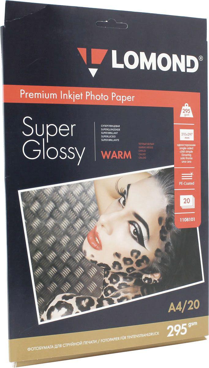 Lomond Super Glossy Warm 295/10x15/20л суперглянцевая тепло-белая1108103Суперглянцевая микропористая фотобумага Lomond для струйной печати.Микропористое покрытие обеспечивает столь же высокое качество печати, как и традиционная фотография. Себестоимость отпечатков на бумаге Lomond Premium Photo c использованием картриджей Lomond - ниже, чем стоимость отпечатков, получаемых по традиционной технологии с использованием химических реактивов. Благодаря полиэстеровому покрытию бумажной основы бумага Lomond Premium Photo совершенно не подвержена короблению после прохода через принтер даже при самой интенсивной заливке чернилами.Модификация Super Glossy по фактуре поверхности наиболее близка к традиционной химической фотобумаге. Отпечатки отличаются высоким глянцем.