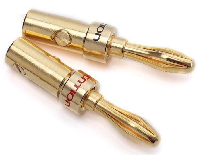 Vention Banana акустический коннектор, 2 штVDD-C02Коннектор Vention Banana предназначен для коммутации акустического кабеля к профессиональной аппаратуре. Монтаж производится путем насаживания коннектора на жилу кабеля. Плотность зажима кабеля в коннекторе регулируется, зажимным винтом. Продукция соответствует следующим сертификатам: RoHS, CE, FCC, TIA, ISOТип разъема: BananaКонтакты: 24K позолоченные, коррозийно-стойкиеДиаметр разъема под кабель: 4 ммРабочая температура: -40...+60°CВыдерживает напряжение: 1000V rms