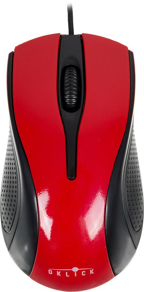 Oklick 215M, Red Black мышьM207 REDПроводная мышь Oklick 215M подходит для работы с ноутбуком и настольным ПК. Устройство выполнено в эргономичном дизайне и имеет симметричную форму, благодаря чему подходит для управления любой рукой. Оптический сенсор с высоким разрешением позволяет использовать устройство в различных графических приложениях и текстовых редакторах. Oklick 215M не требует установки драйверов, достаточно просто подключить ее к USB-порту компьютера.Ресурс до 2500000 нажатий