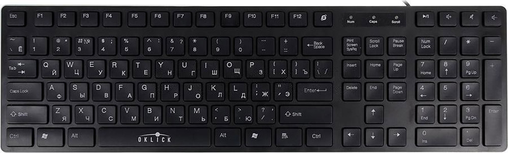 Oklick 570M, Black клавиатура