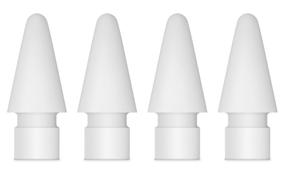 Apple наконечник для Pencil, White 4 шт наконечники apple pencil tips mlun2zm a