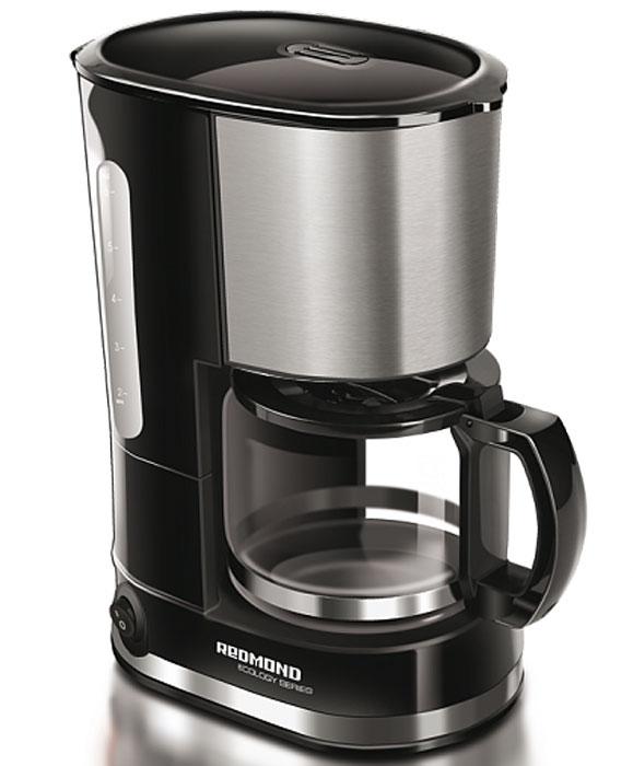 Redmond RCM-M1507 кофеваркаRCM-M1507Кофеварка Redmond RCM-M1507 – новинка с безупречным строгим дизайном, само воплощение высокого искусства кофеварения. Технологичная модель предназначена для приготовления кофе капельным методом. Благодаря компактным размерам её можно использовать и дома на кухне, и взять с собой в путешествие.Кофеварка Redmond RCM-M1507 обладает функцией поддержания температуры, которая позволит сохранить напиток горячим в течение долгого времени. Благодаря противокапельной системе, препятствующей попаданию жидкости на столик с подогревом, можно легко перелить кофе в чашку, не дожидаясь окончания полного цикла приготовления.Redmond RCM-M1507 имеет прочный кувшин из термостойкого стекла и съёмный многоразовый фильтр. Также в данном приборе предусмотрена возможность использования бумажных фильтров. Вы в полной мере ощутите превосходство этого богатого аромата свежесваренного кофе!Длина электрошнура: 0,7 мОбъем кувшина: 0,6 л