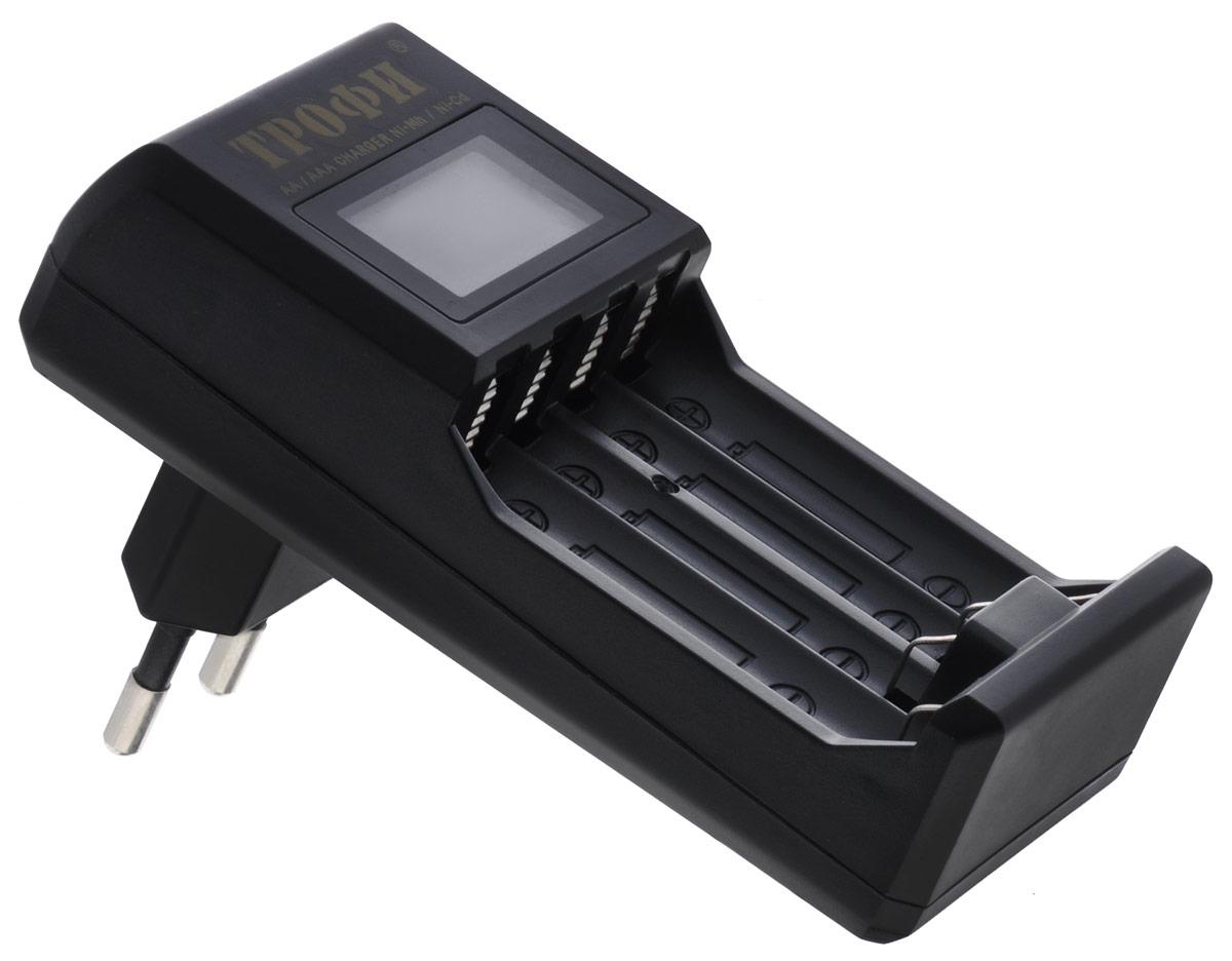 Трофи TR-803 зарядное устройствоTR-803Компактное автоматическое 4-х часовое зарядное устройство Трофи TR-803 с LCD дисплеем.Типы аккумуляторов: NiMH, NiCdКаналов для заряда: 4