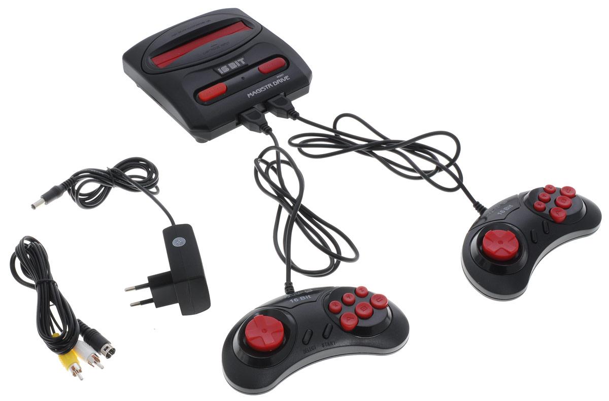 Sega Magistr Drive 2 игровая приставка (65 игр)4601250206806Классическая модель приставки Sega среди представителей своего класса. Процессор приставки Sega, 16-битный, высокого быстродействия (в отличие от 8-битного процессора приставок первого поколения). Это обеспечивает качество игр Sega на уровне аркадных игровых автоматов.