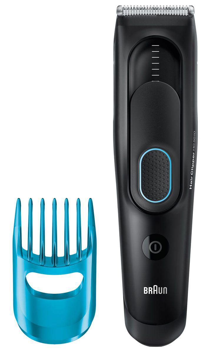 Braun HC 5010 машинка для стрижки волос81517336Машинка для стрижки волос Braun HC 5010 позволяет создать любой образ и стрижку. Восемь настроек длины помогают создавать стрижки для разных случаев. Гребень охватывает диапазон от 3 до 24 мм.Разработана для работы в беспроводном или проводном режиме:Машинка для стрижки волос Braun работает от двойного аккумулятора. Два Ni-MH аккумулятора полностью заряжаются за 8 часов, гарантируя 40 минут беспроводной работы. Для обеспечения непрерывной работы просто подключи ее к питанию.Запоминает настройки нужной длины — для идеальных результатов в любое время:Умная функция Memory SafetyLock запоминает и записывает последние использованные настройки длины даже после удаления насадки.Надежный захват для точного управления:Прорезиненная зона захвата для комфортного и надежного использования.Сверхострые лезвия для точной стрижки:Лезвия машинок для стрижки волос Braun спроектированы для сохранения остроты надолго. Это обеспечивает необходимую точность для создания прически твоей мечты.Полностью моющийся:Машинка для стрижки волос Braun полностью моющаяся — легкость очистки под проточной водой.Автоматическая настройка напряжения в любой стране мира:Машинка для стрижки волос Braun автоматически приспосабливается к любому напряжению от 100 до 240 В. Это делает ее идеальным спутником в поездках.