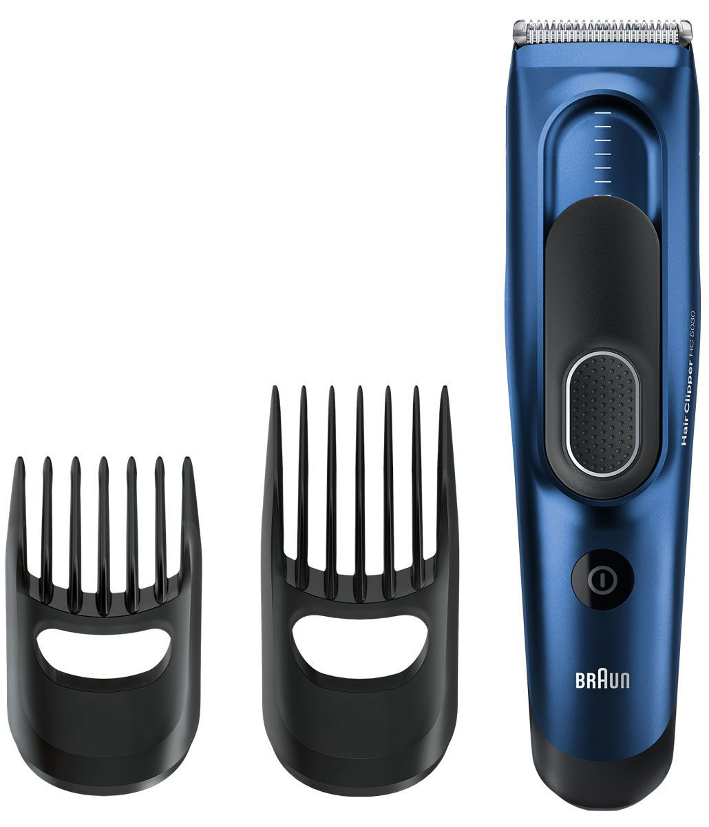 Braun HC 5030 машинка для стрижки волос81519167Машинка для стрижки волос Braun HC 5030 с 17 настройками длины позволяет создать любой образ и стрижку. Два регулируемых направляющих гребня позволяют создать прическу твоей мечты. Малый гребень охватывает длину от 3 до 24 мм, большой — от 14 до 35 мм.Разработана для работы в беспроводном или проводном режиме:Машинка для стрижки волос Braun работает от двойного аккумулятора. Два Ni-MH аккумулятора полностью заряжаются за 8 часов, гарантируя 40 минут беспроводной работы. Для обеспечения непрерывной работы просто подключи ее к питанию.Запоминает настройки нужной длины - для идеальных результатов в любое время:Умная функция Memory SafetyLock запоминает и записывает последние использованные настройки длины даже после удаления насадки.Надежный захват для точного управления:Прорезиненная зона захвата для комфортного и надежного использования.Сверхострые лезвия для точной стрижки:Лезвия машинок для стрижки волос Braun спроектированы для сохранения остроты надолго. Это обеспечивает необходимую точность для создания прически твоей мечты.Полностью моющийся:Машинка для стрижки волос Braun полностью моющаяся - легкость очистки под проточной водой.Автоматическая настройка напряжения в любой стране мира:Машинка для стрижки волос Braun автоматически приспосабливается к любому напряжению от 100 до 240 В. Это делает ее идеальным спутником в поездках.