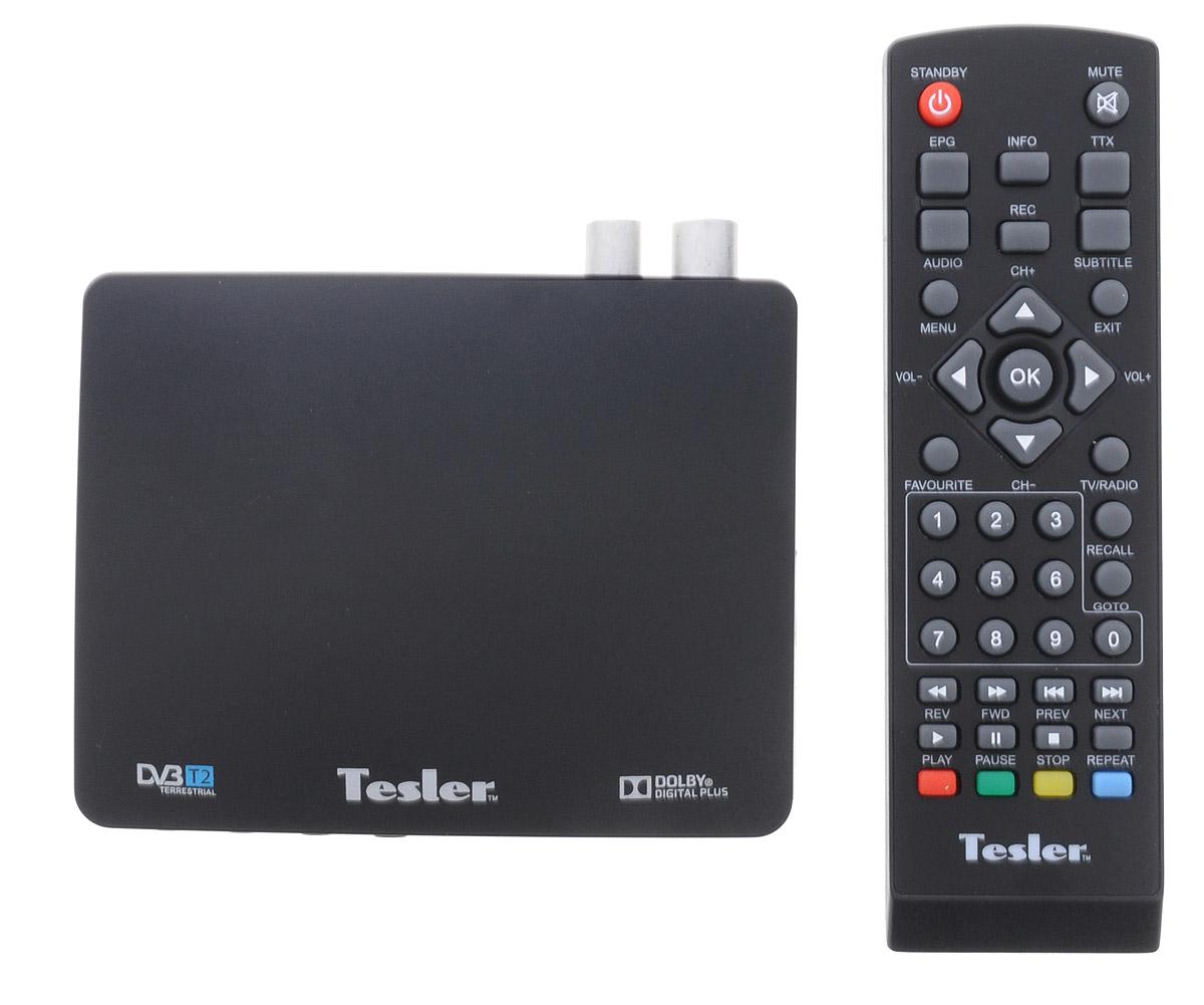 Tesler DSR-720 цифровой телевизионный ресивер DVB-T2