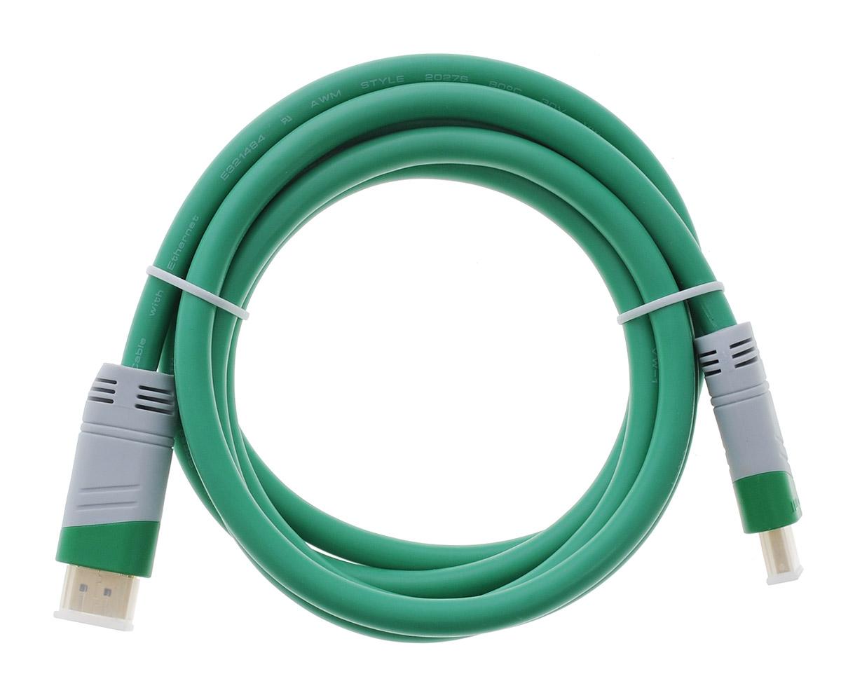 Greenconnect GC-GCHD01, Green Gray кабель HDMI 1.8 мGC-GCHD01-1.8mКабель HDMI Greenconnect GC-GCHD01 предназначается для передачи цифровых видеоданных с высоким разрешением и многоканальных цифровых аудиосигналов с дальнейшей защитой от копирования. Обеспечение соединения при помощи разъема HDMI нескольким устройствам делает этот интерфейс незаменимым.Пропускная способность интерфейса: до 10,2 Гбит/сТолщина кабеля: 7,3 ммЭкранирование от внешних полейТип оболочки: PVC (ПВХ)