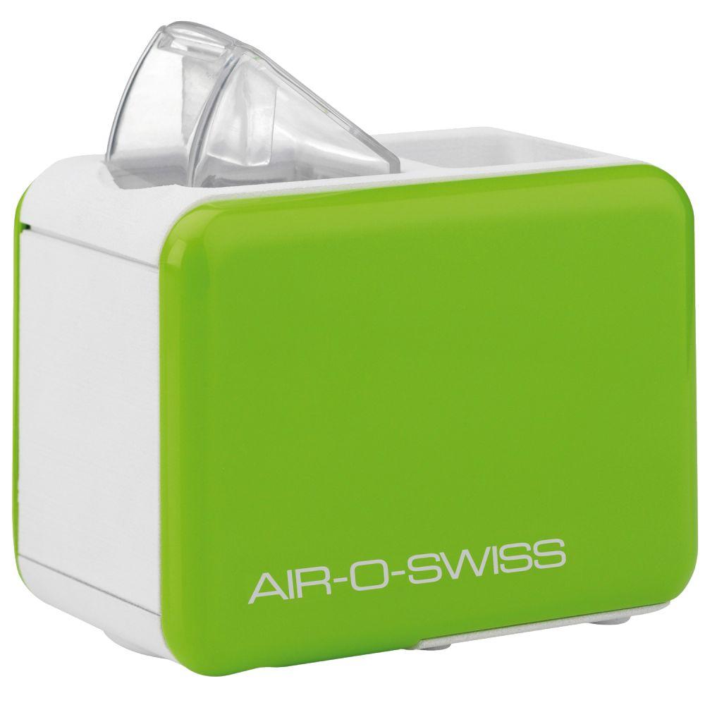 Boneco Air-O-Swiss U7146, Apple Green увлажнитель воздухаU7146 зеленыйМобильный увлажнитель воздуха Air-O-Swiss U7146 можно брать с собой куда угодно: на отдых, в командировку, в офис – в любой поездке он будет сопровождать Вас, поддерживая оптимальный уровень влажности воздуха, где бы Вы ни находились. Маленький и яркий увлажнитель Air-O-Swiss U7146 в кратчайшие сроки создаст благоприятный микроклимат в гостиничном номере или апартаментах, насыщая воздух живительной влагой. Такой легкий и компактный, он не займет много места и не потребует особого ухода.Прибор работает по принципу ультразвукового увлажнения воздуха. Вода, попадая в камеру парообразования, под воздействием ультразвука расщепляется на мельчайшие брызги. Микроскопические капли образуют своеобразное облако пара, вентилятор малой мощности прогоняет наружный воздух, подавая пар в помещение, который затем равномерно по нему распространяется.Уникальность модели AOS U7146 - в том, что в качестве емкости для воды выступает стандартная пластиковая бутылка объемом не более 500 мл, что значительно облегчает вес и размеры прибора, а в целом - его конструкцию, что позволяет перевозить его на любые расстояния. Кроме того, такое новшество облегчает и подбор воды для увлажнения – Вы можете использовать любую очищенную воду. Для устойчивости прибора предусмотрены специальные складные ножки, которые обеспечивают хорошую устойчивость и безопасность при эксплуатации. AOS U7146 — портативный увлажнитель воздуха — выпускается в 4-х оригинальных цветах: ярко зеленый, фиолетовый, черный и белый. Уход за прибором очень прост: в нем нет фильтров, требующих регулярной замены, очистки от загрязнений требуют только внутренние части прибора и мембрана