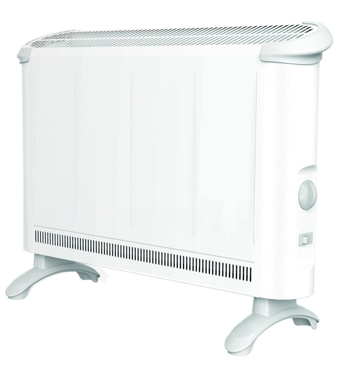 EWT Clima 280 TS, White конвекторClima 280 TSКонвектор EWT Clima 280 TS идеально подходит для переходного периода осенью и весной или в качестве полного отопления для небольших жилых помещений. Благодаря своей мобильности его с легкостью можно установить практически везде - достаточно всего лишь розетки. Бесшумно проходящий вверх через нагревательные элементы воздух быстро и равномерно нагревает помещения. Экономичная рециркуляция тепла больших объемов создает приятный и сбалансированный климат уюта.
