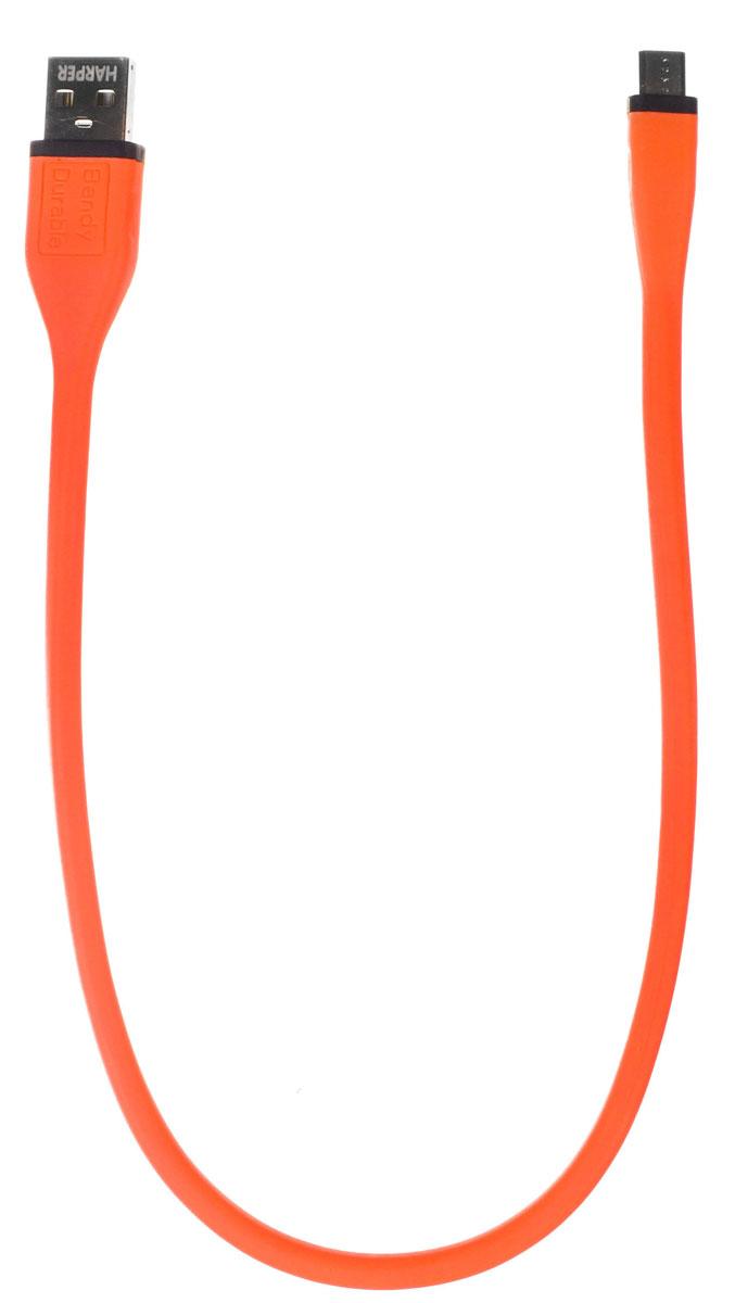 Harper BCH-338, Orange кабельH00000836Кабель Harper BCH-338 подходит для зарядки и синхронизации мобильных телефонов, смартфонов и других цифровых устройств с разъемом microUSB. Не спутывается. Сверхпрочный.