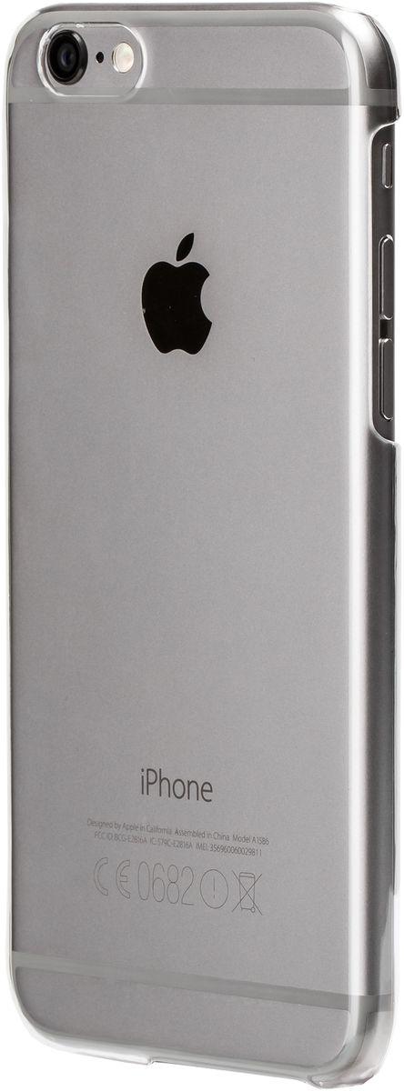 uBear Tone Case чехол для iPhone 6/6s, ClearCS07TR01-I6Чистый дизайн для иконы стиля. Чехол из твердого пластика с Anti-scratch покрытием от царапин. Благодаря Anti-slip покрытию чехол не скользит в руках. Легкий утонченный дизайн, подчеркивающий красоту смартфона. Безупречная защита Вашего устройства. Чехол обеспечивает свободный доступ ко всем функциональным кнопкам смартфона и камере.