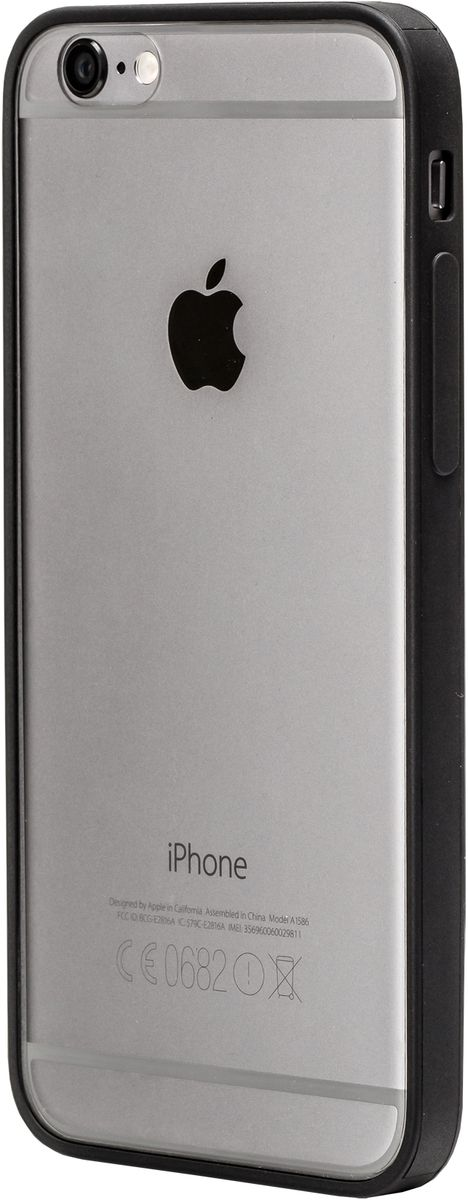 uBear Tone Case чехол для iPhone 6/6s, BlackCS12BL01-I6Чистый дизайн для иконы стиля. Бампер с прозрачной задней панелью с Anti-scratch покрытием от царапин. Легкий утонченный дизайн, подчеркивающий красоту смартфона. Безупречная защита Вашего устройства. Чехол обеспечивает свободный доступ ко всем функциональным кнопкам смартфона и камере.