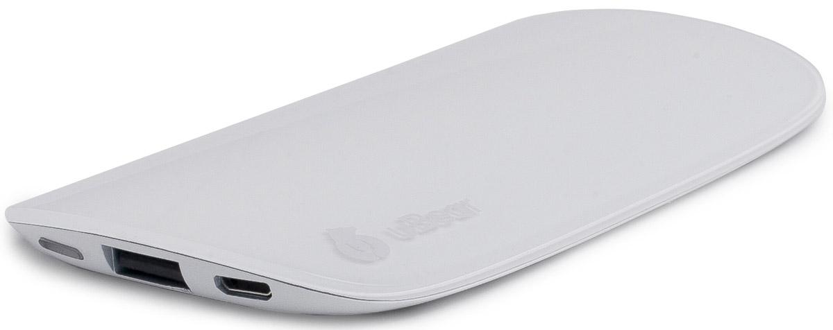 uBear 6000, White внешний аккумулятор (пластиковый корпус)PB01WH6000-ADВнешний аккумулятор uBear 6000 покорит вас своим внешним видом с первого взгляда. Качественный пластик, полупрозрачная верхняя панель, обтекаемые линии и невероятно тонкий дизайн. Аккумулятор прекрасно будет сочетаться с вашим смартфоном, поддерживая его изящный стиль.Технические характеристики на высоте: LED-индикатор заряда, защита от короткого замыкания, перегрева, большое количество циклов перезарядки.