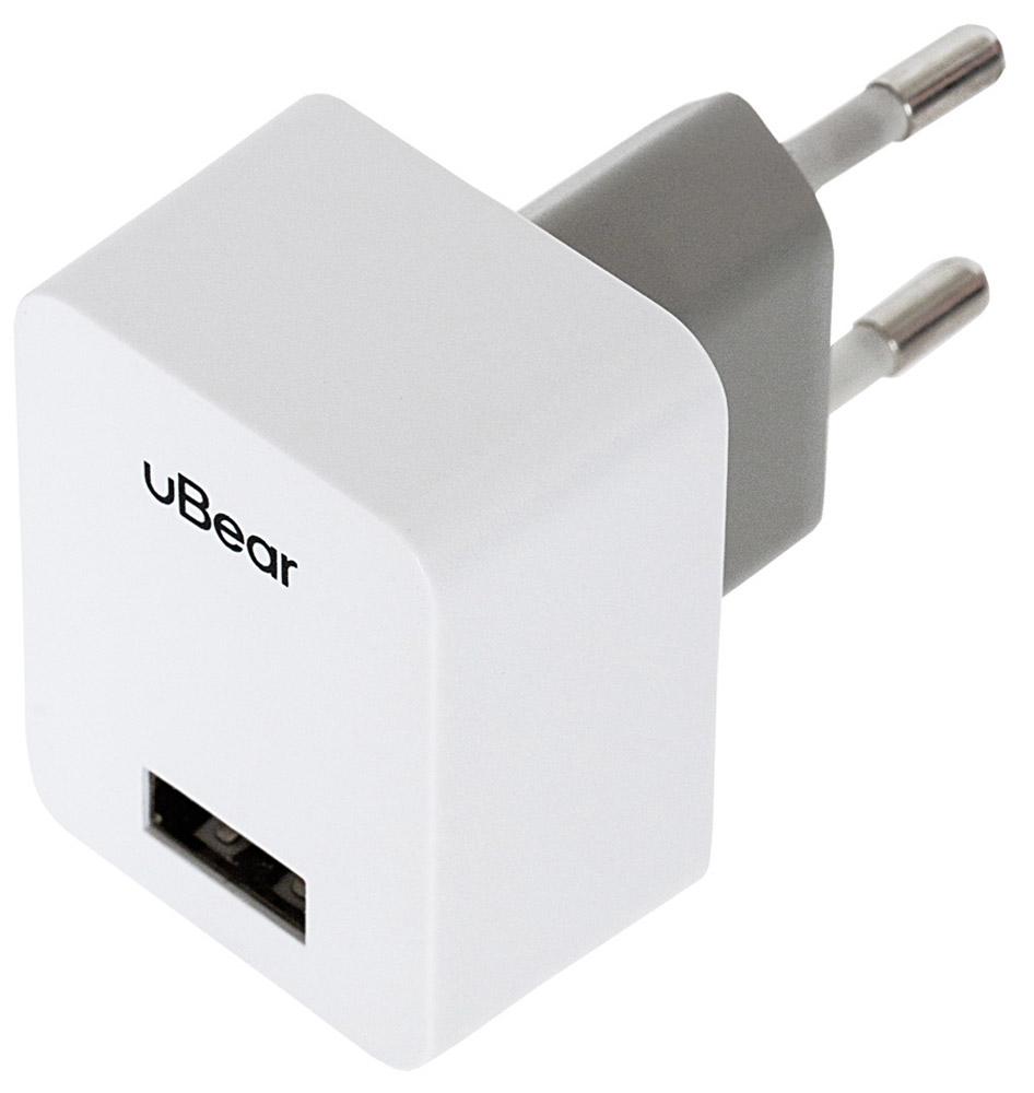 uBear 1 USB Wall Charger 1.0 А, White сетевое зарядное устройствоWC01WH01-ADЗарядное устройство uBear 1 USB Wall Charger 1.0 А предназначено для заряда батареи мобильных телефонов, смартфонов и других цифровых устройств через USB от сети 100-240В. Он подходит для розетки европейского стандарта, тем самым устройство можно подключить к большинству розеток. Выходные параметры адаптера достаточны для питания различных типов портативной электроники.