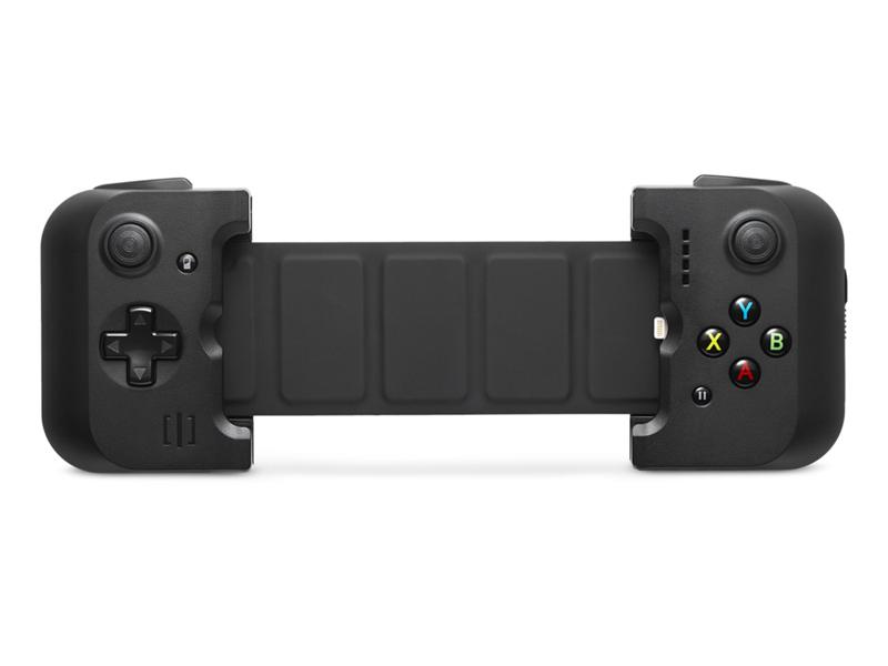Gamevice GV156 игровой контроллер для Apple iPhone 6/6 Plus/6s/6s PlusGV156Компания Wikipad является первопроходцем в области создания игровых контроллеров со своей новинкой Gamevice GV156 – геймпадом, своеобразным доком для iPhone, который добавляет к смартфону физические кнопки для управления в играх.Игровой контроллер Gamevice GV156 для iPhone, в отличие от многих других геймпадов, для подключения к смартфону использует не беспроводной Bluetooth, а интерфейс Lightning. Благодаря уникальной разборной конструкции он совместим как с 4.7-дюймовыми iPhone 6 и iPhone 6s, так и с 5.5-дюймовыми iPhone 6 Plus и iPhone 6s Plus. Контроллер имеет встроенный литий-полимерный аккумулятор на 400 мАч с индикатором уровня зарядки и состояния из четырёх светодиодов.Контроллер Gamevice GV156 имеет стандартный набор кнопок, включая два традиционных джойстика, четыре кнопки (A, B, X и Y), кнопки R1, R2, L1 и L2, а также кнопку паузы. Он также позволяет подключить к iPhone наушники через 3.5-миллиметровый разъём. Сам Gamevice заряжается через порт microUSB.Если Gamevice GV156 физически присоединён к iPhone то, его можно использовать с другими устройствами, такими как iPad, Apple TV и Mac благодаря функции в iOS под названием переадресация контроллера.Как и другие контроллеры в рамках программы MFi, Gamevice поддерживает совместимые игры, среди которых уже сейчас отмечены такие хиты, как Limbo, Star Wars: Knights of the Old Republic и The Walking Dead. Огромное количество игр можно скачать в App Store, все игры переписаны и адаптированы под игровой контроллер Gamevice.