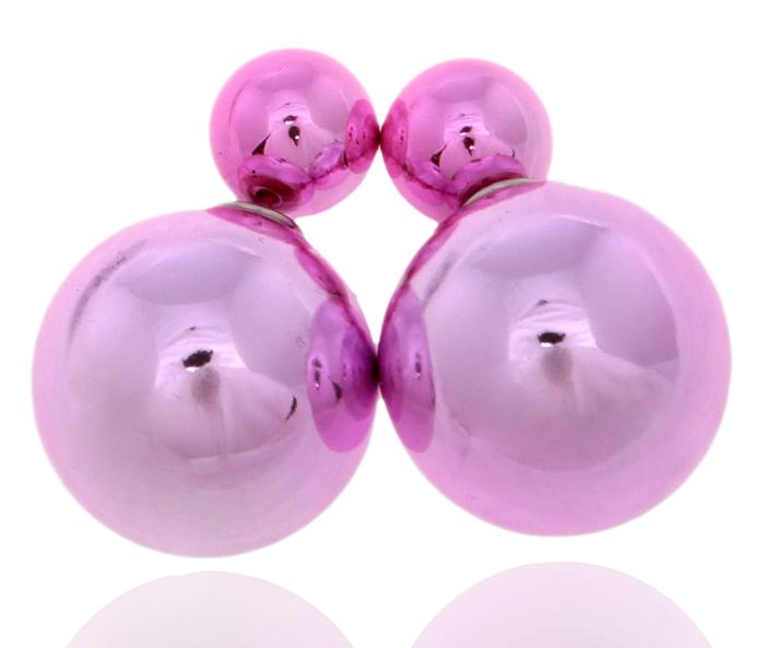 Серьги-шары Шарлиз. Бусины розового цвета, бижутерный сплав серебряного тона. Arrina, ГонконгПуссеты (гвоздики)Двухсторонние серьги-шары Шарлиз.Бусины розового цвета, бижутерный сплав серебряного тона.Arrina, Гонконг.Размер - диаметр 1,5 см.Серьги-шары - самый модный тренд в этом сезоне!