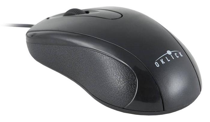 Oklick 205M, Black мышьM203Проводная мышь Oklick 205M подходит для работы с ноутбуком и настольным ПК. Устройство выполнено в эргономичном дизайне и имеет симметричную форму, благодаря чему подходит для управления любой рукой. Оптический сенсор с высоким разрешением позволяет использовать устройство в различных графических приложениях и текстовых редакторах. Oklick 205M не требует установки драйверов, достаточно просто подключить ее к USB-порту компьютера.Ресурс до 2500000 нажатий