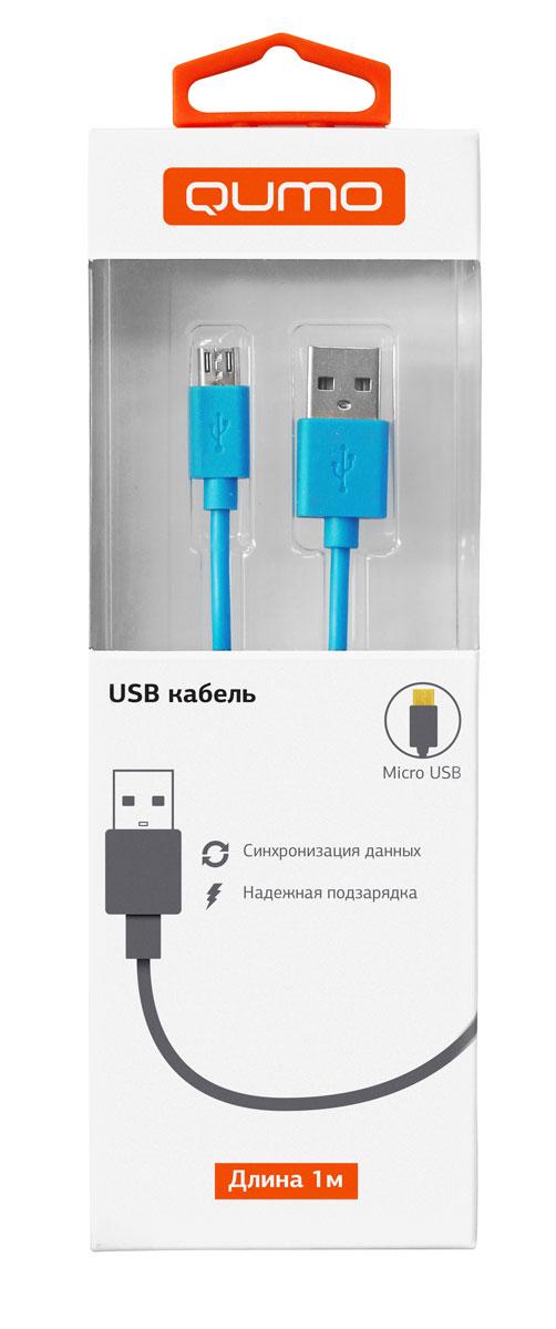 QUMO кабель microUSB-USB круглый, Blue (1 м)20985Высококачественный кабель QUMO для надежной подзарядки и синхронизации данных для устройств с разъемом microUSB.
