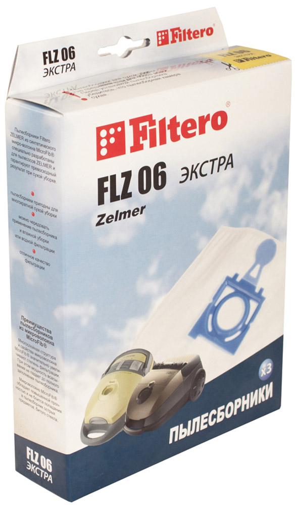 Filtero FLZ 06 Экстра мешок-пылесборник 3 штFLZ 06 ЭкстраМешки - пылесборники Filtero FLZ 06 Экстра произведены из пятислойного синтетического микроволокна MicroFib. Очень прочные, не боятся острых предметов и влаги, собирают до 50% больше пыли, чем бумажные. Обеспечивают уровень очистки воздуха НЕРА. Сохраняют мощность всасывания в течение всего периода службы пылесборника.