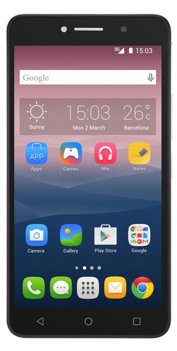 Alcatel OT-8050D Pixi 4 (6.0), Black Silver8050D-2BALRU1Стильный смартфон Alcatel OT-8050D Pixi 4 (6.0) под управлением Android 5.1 с поддержкой 2 SIM-карт. Большой дисплей диагональю 6 имеет разрешение 1280х720 пикселей. Устройство также оснащено основной 8-мегапиксельной камерой с автофокусом, которая с легкостью запечатлеет радостные и интересные моменты вашей жизни, а также фронтальной камерой с разрешением 5 мегапикселей для эффектных селфи. С помощью встроенных модулей Bluetooth и Wi-Fi вы можете передавать информацию (изображения, видео- и аудиофайлы) по беспроводному соединению.Телефон сертифицирован EAC и имеет русифицированный интерфейс меню и Руководство пользователя.