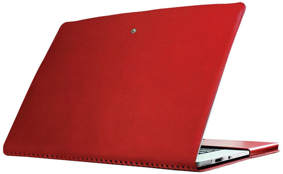 Promate MacLine-Pro 15, Red чехол для MacBook Air6959144007366Обеспечьте ваш MacBook Pro легкой, изящной и тонкой защитой при помощи чехла Promate MacLine-Pro 15. С внешней отделкой из влагоустойчивой кожи высшего качества и мягкой замшей внутри, MacLine-Pro15 отлично защищает ваш дорогой гаджет от различных неприятных происшествий (царапины, удары, потертости и т.д.) везде, куда бы вы не пошли. Технологические вырезы обеспечивают идеальный доступ ко всем без исключения портам и кнопкам управления, а перфорированные отверстия на задней крышке позволят вашему MacBook Pro эффективно охлаждаться.