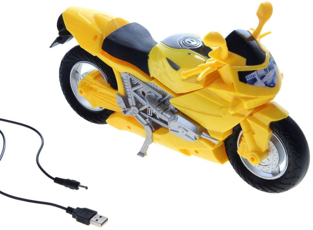 Светильник детский Мотоцикл желтый