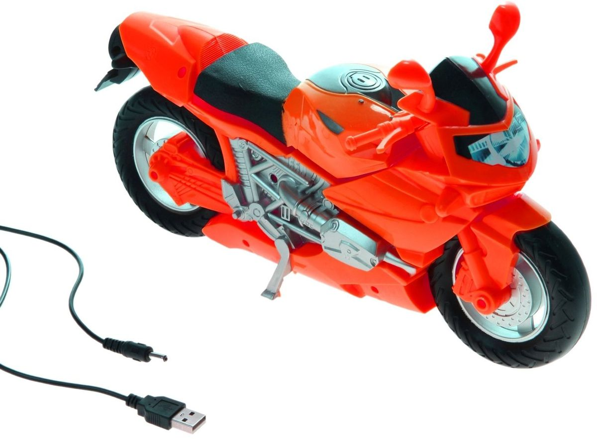 Светильник детский Мотоцикл красный