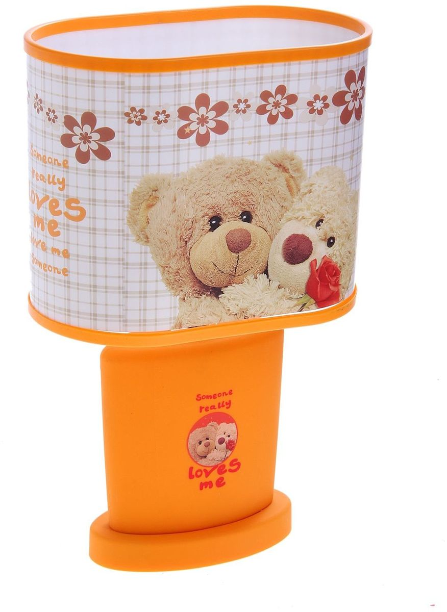 Лампа настольная Медвежата оранжевый -  Светильники