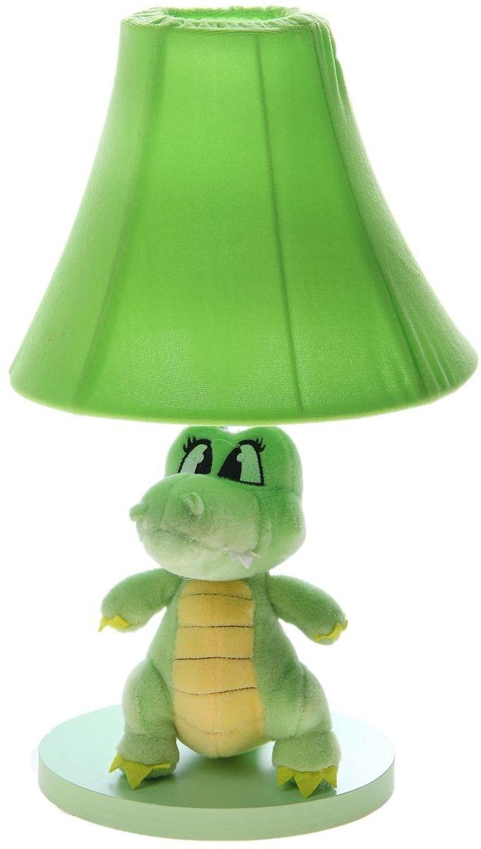 Лампа настольная Плюшевый динозаврик зеленый