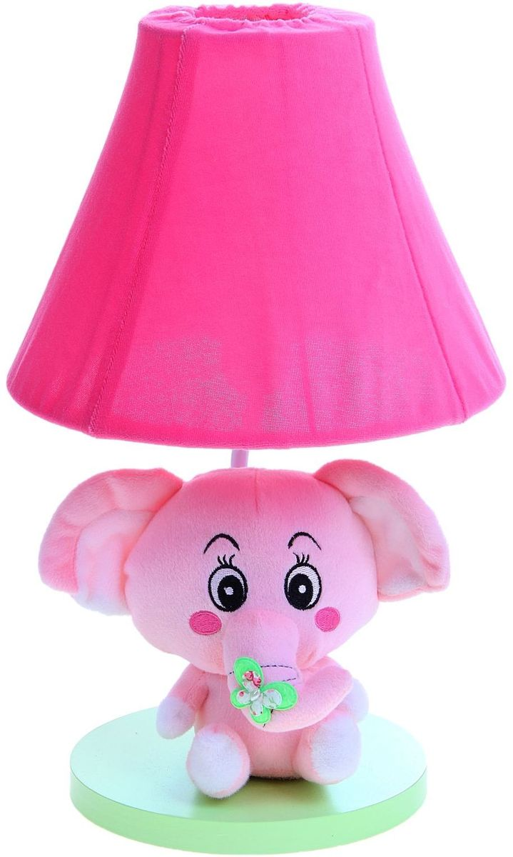 Лампа настольная Плюшевый слоненок розовый