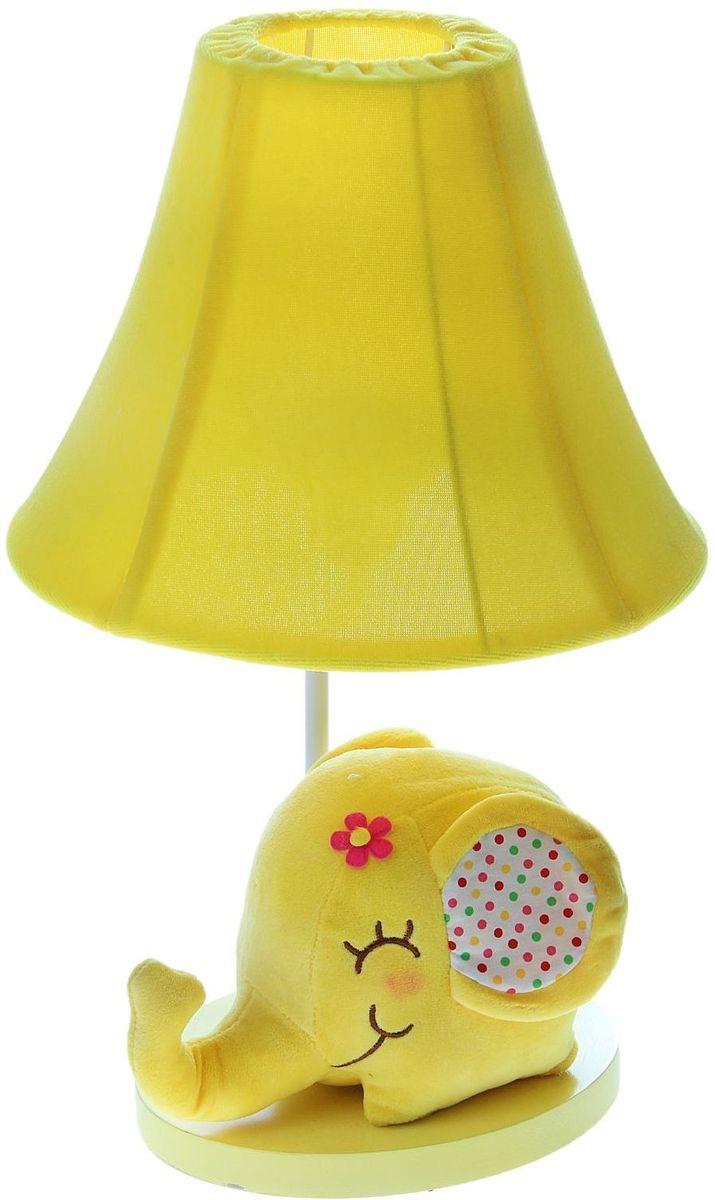 Лампа настольная Плюшевый слоненок желтый