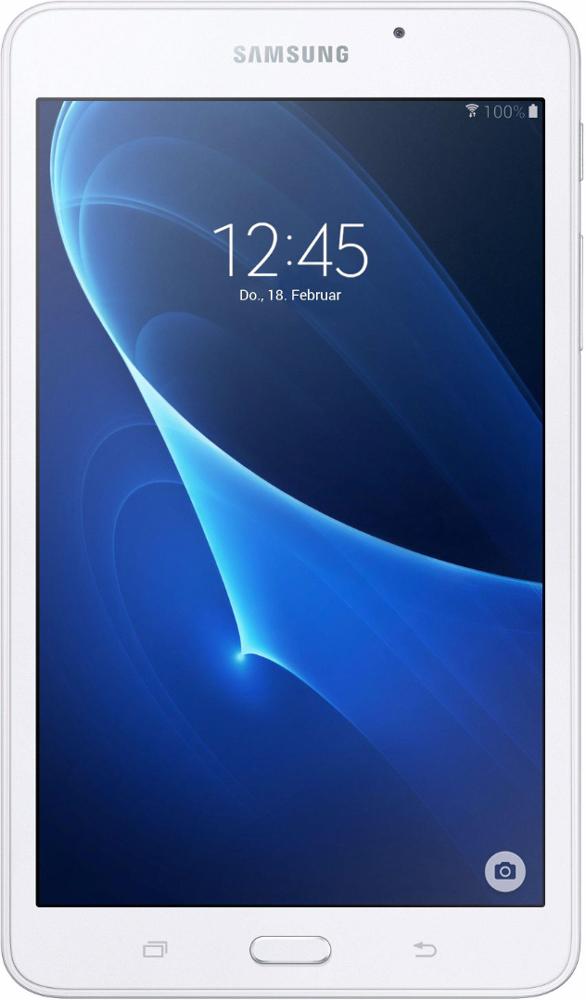 Samsung Galaxy Tab A6 SM-T280, WhiteSM-T280NZWASERПланшетный компьютер Samsung Galaxy Tab A6 привлекает своей компактностью в сочетании с производительностью.В тонком корпусе с классическим дизайном уместилась достойная начинка: четырехъядерный процессор с тактовой частотой 1,3 ГГц и 1,5 ГБ оперативной памяти. За качественное изображение отвечает яркий и сочный 7-дюймовый экран с разрешением 1200x800.Удобный размер планшета позволяет использовать его с одинаковым комфортом и для чтения книг, и для интернет-серфинга, и для развлечений.Точная автофокусировка помогает основной камере 5 Мпикс справиться со съемкой движущихся предметов и получить четкий снимок. Фронтальная камера 2 Мпикс придет на помощь, если нужно сделать автопортрет.Данная модель одинаково подходит как для взрослых, так и для детей. Встроенный таймер ограничивает время, проведенное ребенком за планшетом, а разнообразный увлекательный и образовательный контент поможет малышу провести время с пользой.Встроенный аккумулятор 4000 мАч, подзаряжаемый через microUSB, по заявлению производителя способен обеспечить стабильную работу в течение дня, это примерно 10 часов.Планшет синхронизируется с телевизорами Samsung без помощи проводов - просматривать фото и видео можно, подключившись по Bluetooth или авторизовавшись в аккаунте Samsung.Планшет сертифицирован EAC и имеет русифицированный интерфейс, меню и Руководство пользователя.