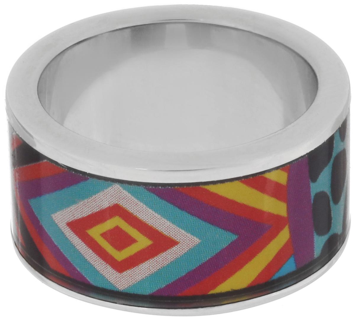 Кольцо Art-Silver, цвет: серебристый, мультиколор. ФК100-1-320. Размер 16,5Коктейльное кольцоВеликолепное кольцо Art-Silver изготовлено из бижутерного сплава. Изделие с покрытием из эмали оформлено разнообразным неповторимым орнаментом.Стильное кольцо придаст вашему образу изюминку и подчеркнет индивидуальность.
