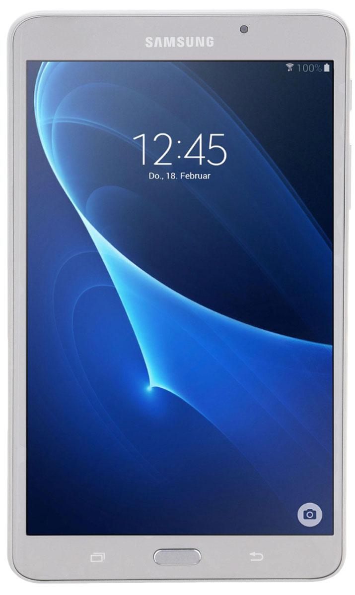 Samsung Galaxy Tab A 7.0 SM-T285, SilverSM-T285NZSASERПланшетный компьютер Samsung Galaxy Tab A 7.0 привлекает своей компактностью в сочетании с производительностью.В тонком корпусе с классическим дизайном уместилась достойная начинка: четырехъядерный процессор с тактовой частотой 1,5 ГГц и 1,5 ГБ оперативной памяти. За качественное изображение отвечает яркий и сочный 7-дюймовый экран с разрешением 1200x800.Удобный размер планшета позволяет использовать его с одинаковым комфортом и для чтения книг, и для интернет-серфинга, и для развлечений.Точная автофокусировка помогает основной камере 5 Мпикс справиться со съемкой движущихся предметов и получить четкий снимок. Фронтальная камера 2 Мпикс придет на помощь, если нужно сделать автопортрет.Данная модель одинаково подходит как для взрослых, так и для детей. Встроенный таймер ограничивает время, проведенное ребенком за планшетом, а разнообразный увлекательный и образовательный контент поможет малышу провести время с пользой.Встроенный аккумулятор 4000 мАч, подзаряжаемый через microUSB, по заявлению производителя способен обеспечить стабильную работу в течение дня, это примерно 10 часов.Планшет синхронизируется с телевизорами Samsung без помощи проводов - просматривать фото и видео можно, подключившись по Bluetooth или авторизовавшись в аккаунте Samsung.Планшет сертифицирован EAC и имеет русифицированный интерфейс, меню и Руководство пользователя.