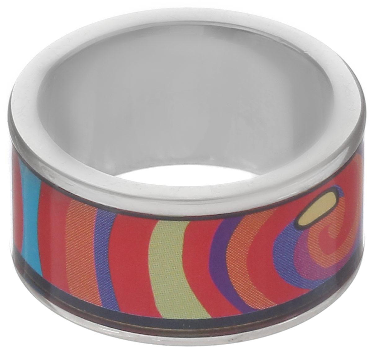 Кольцо Art-Silver, цвет: серебристый, красный, синий. ФК115-1-320. Размер 17,5Коктейльное кольцоСтильное кольцо Art-Silver изготовлено из бижутерного сплава. Изделие оформлено оригинальным принтом и покрыто эмалью.Стильное кольцо придаст вашему образу изюминку и подчеркнет индивидуальность.