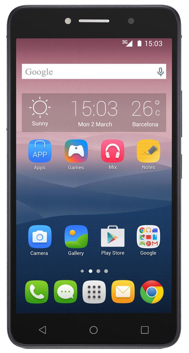 Alcatel OT-8050D Pixi 4 (6.0), Black8050D-2AALRU1Стильный смартфон Alcatel OT-8050D Pixi 4 (6.0) под управлением Android 5.1 с поддержкой 2 SIM-карт. Большой дисплей диагональю 6 имеет разрешение 1280х720 пикселей. Устройство также оснащено основной 8-мегапиксельной камерой с автофокусом, которая с легкостью запечатлеет радостные и интересные моменты вашей жизни, а также фронтальной камерой с разрешением 5 мегапикселей для эффектных селфи. С помощью встроенных модулей Bluetooth и Wi-Fi вы можете передавать информацию (изображения, видео- и аудиофайлы) по беспроводному соединению.Телефон сертифицирован EAC и имеет русифицированный интерфейс меню и Руководство пользователя.