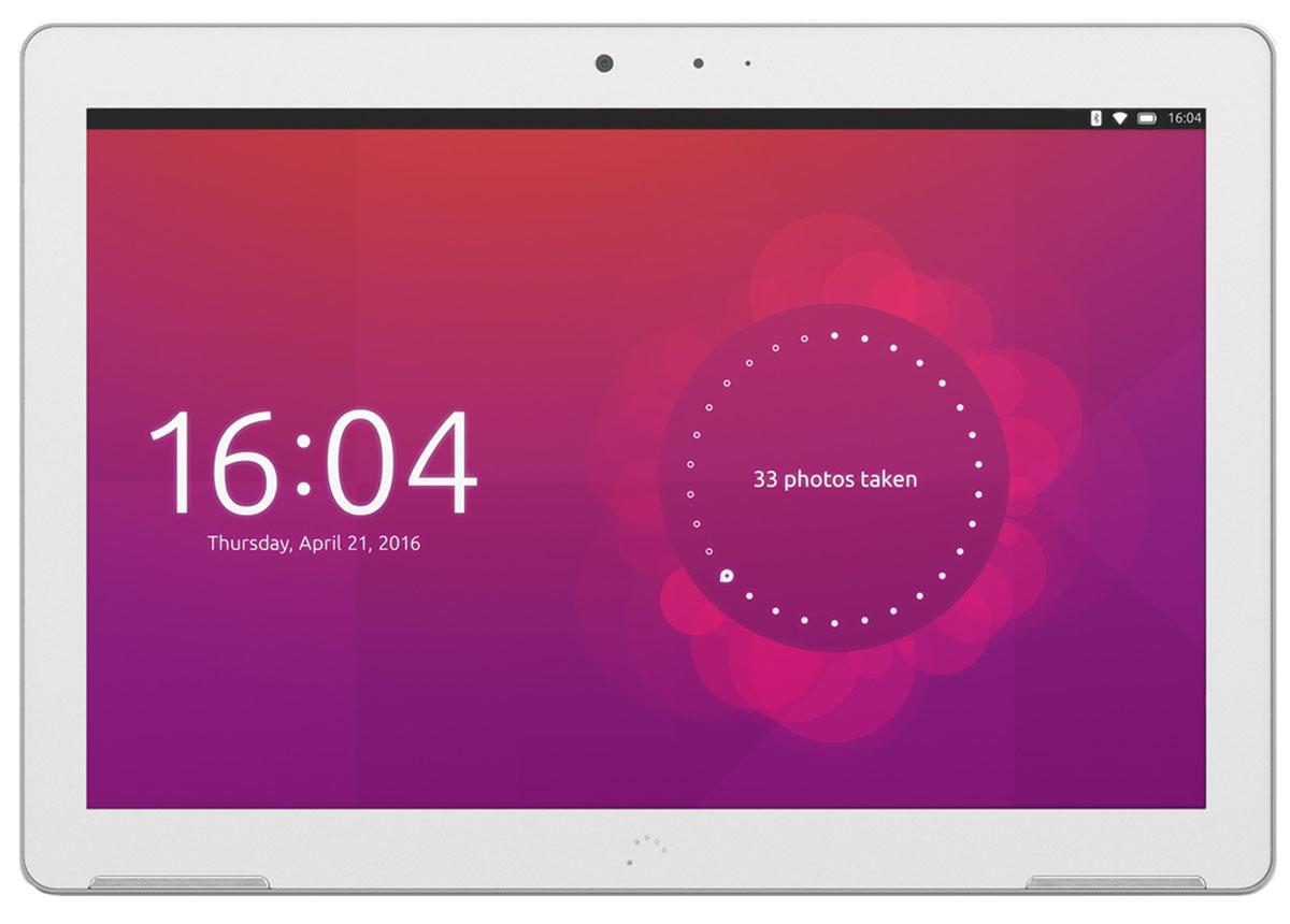 BQ Aquaris M10 HD Ubuntu Edition, WhiteB000170BQ Aquaris M10 - первый в мире планшет с возможностью переключения между 2 интерфейсами.Aquaris M10 Ubuntu Edition имеет два интерфейса, которые позволяют пользователю использовать устройство в качестве планшета или персонального компьютера. Первый программный модуль позволяет использовать все стандартные функции планшета, а режим ПК активируется автоматически при подключении мыши и клавиатуры.Работайте в режиме планшета...Первый в мире планшет на базе Ubuntu OS, операционная система с открытым исходным кодом, предоставляющая уникальные возможности для пользователей. Интуитивно понятный интерфейс включает множество интересных функций: пользовательский экран быстрого запуска, с помощью которого можно оперативно получить доступ к различному контенту на устройстве (музыка, видео, тексты, социальные сети и т.д.). Данные группируется интуитивно понятным образом, используя логику пользователя, что устраняет необходимость в поиске контента в различных приложениях.... или в режиме ПКПри переключении в режим персонального компьютера система отображает оконный интерфейс, навигация которая осуществляется с помощью мыши или тачскрина. Планшет можно подключить к монитору, чтобы просмотреть результаты вашей работы на большом экране. Подобная универсальность облегчает работу в режиме многозадачности и расширяет возможности планшета как рабочего инструмента. Кроме того, на планшет установлены такие приложения как LibreOffice и GIMP Image Editor, поэтому его можно использовать в профессиональной деятельности без каких-либо ограничений.С Aquaris M10 Ubuntu Edition вам больше не понадобится ноутбукAquaris M10 Ubuntu Edition легко взять с собой благодаря его компактным размерам: корпус планшета имеет толщину 8,22 мм при весе 470 грамм. Малый вес устройства делает его невероятно удобным для работы. Забудьте о тяжелых сумках для ноутбуков - все ваши рабочие инструменты в вашем планшете! Full HD или HD дисплейДисплей с диагональю 10,1 дюйма и 